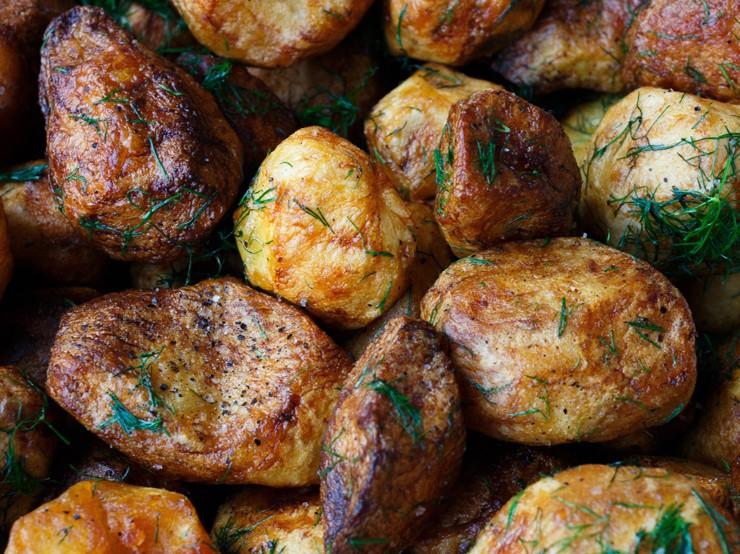 Garlic baked potato