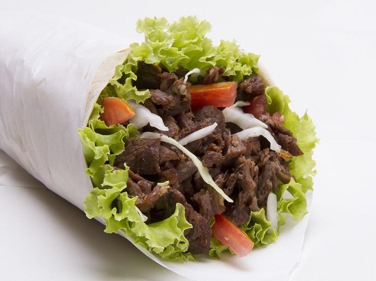 Paprika lamb kebab wraps