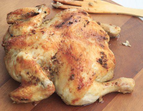 Roast salt chicken