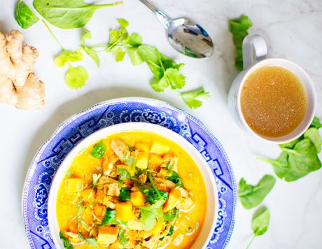 Ginger and Lemongrass Infused Thai Soup
